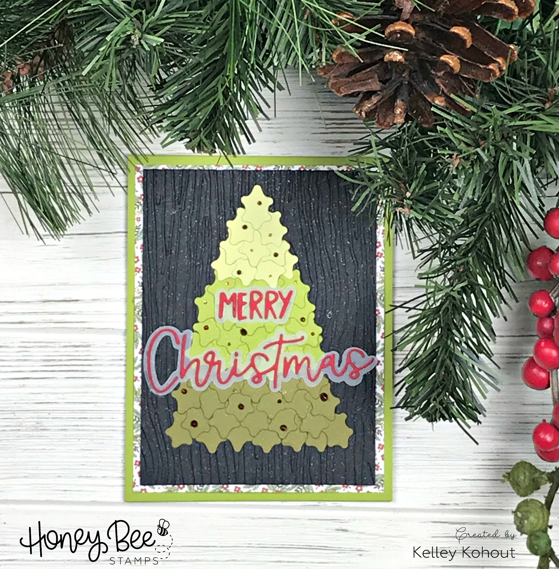 Christmas Card featuring ONLY Die Cuts!