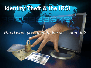 IRS Identity Theft and Tax Refunds