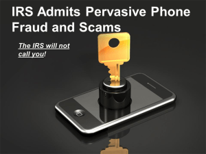 IRS Warns of Telephone Scams
