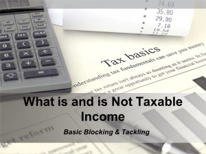 What is and is Not Taxable Income