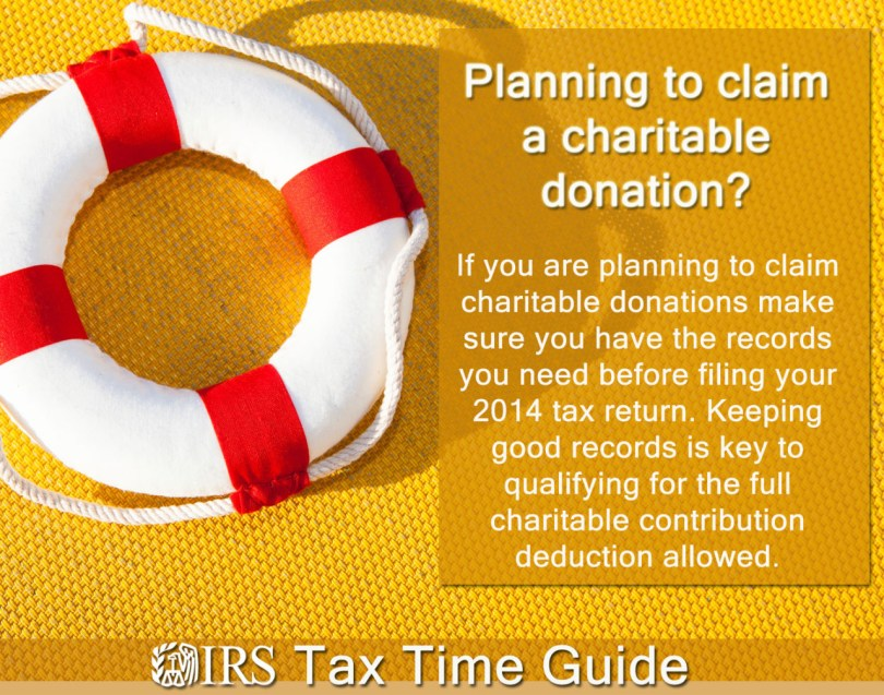 Records for Claiming Charity Gifts