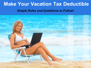Make Your Vacation Tax Deductible