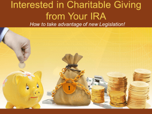 Charitable Giving from Your IRA