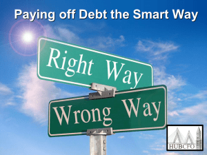 Paying off Debt the Smart Way