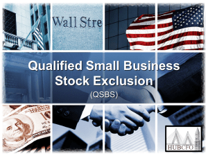 Qualified Small Business Stock (QSBS) Exclusion