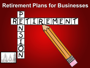 Retirement Plans for Businesses