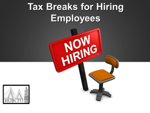 Tax Breaks for Hiring Employees