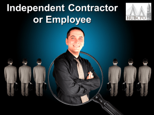 Independent Contractor or Employee