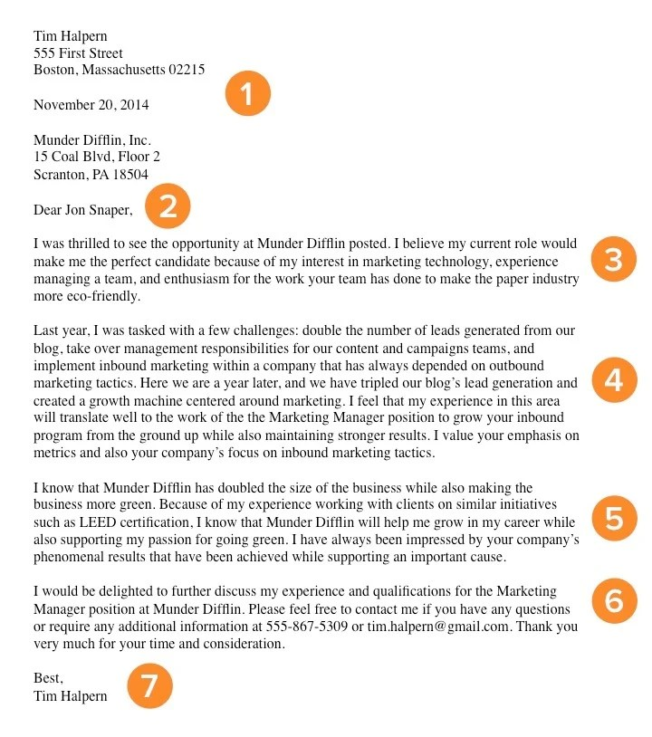 How to Write a Cover Letter That Gets You the Job Bookmarkable - cover letter information