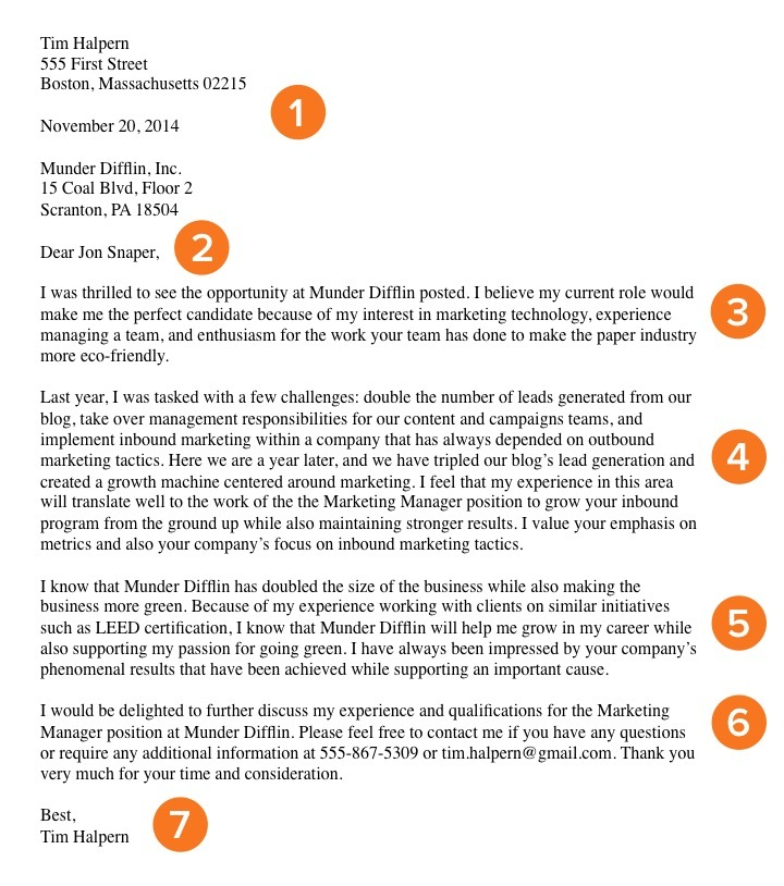 How to Write a Cover Letter That Gets You the Job Template + Examples - Cover Letter To A Company