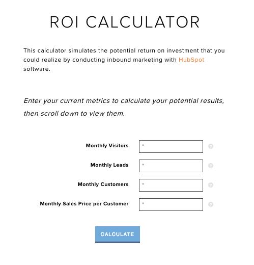 HubSpot ROI Calculator