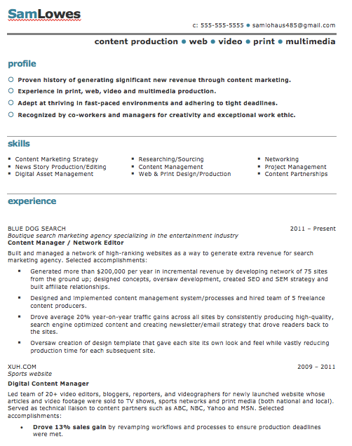 various column resume template word