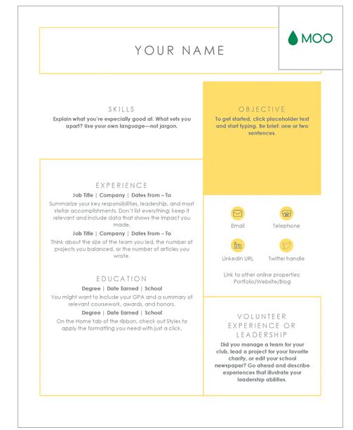 moo.com resume templates