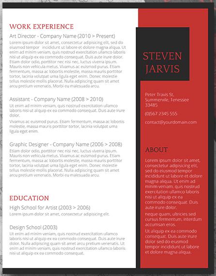 free resume template download with sidebar