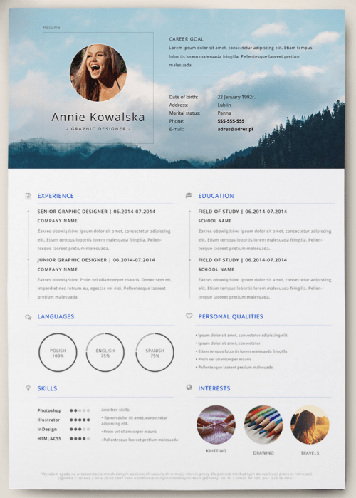 marketing cv template
