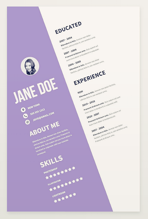 free two page resume template