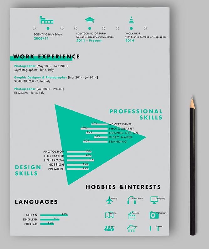 eye catching cv