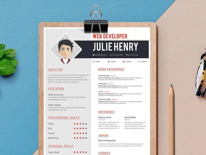 resume themes microsoft word