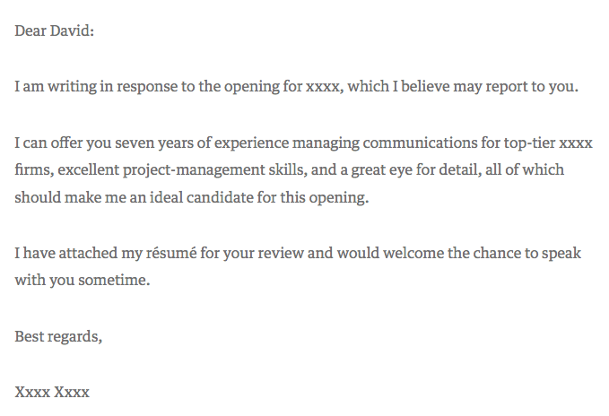 cover letter stating why you are the best candidate