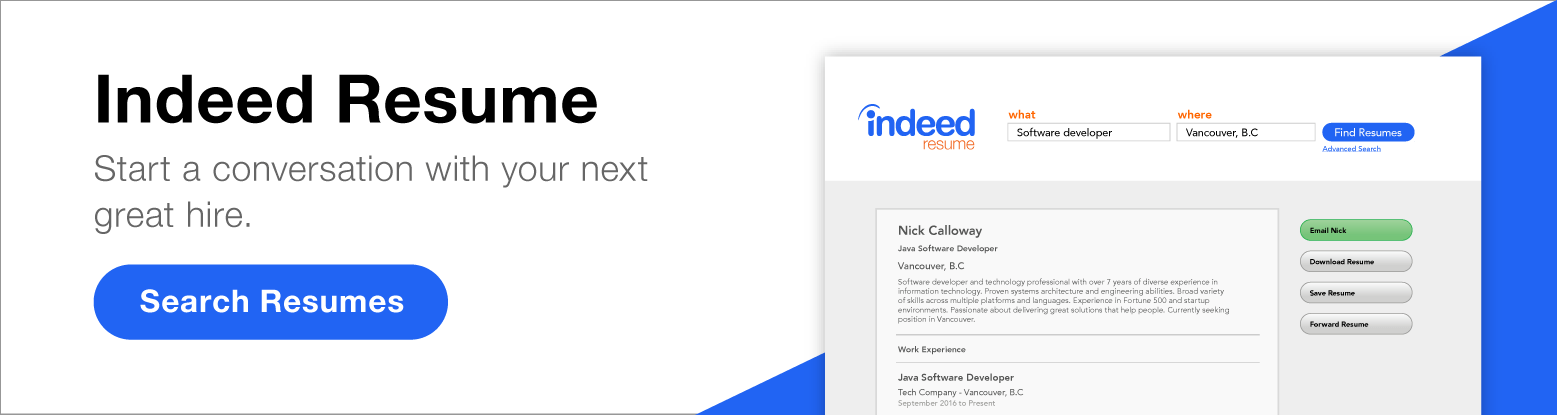indeed resume search advanced