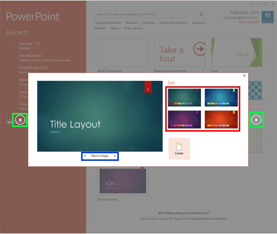 Learn PowerPoint 2013 for Windows Presentation Gallery