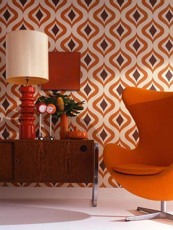Jugendzimmer Inspiration Accent Mid-century Living With Patterns - Inmod Style