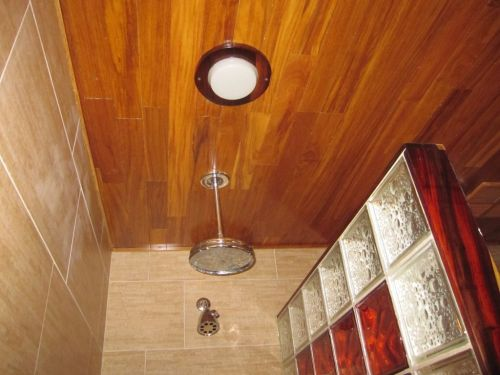 Medium Of Teak Shower Floor