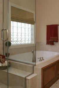 Vinyl framed glass block window for bathrooms, kitchens ...
