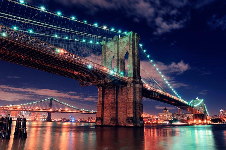 Brooklyn Bridge Wallpaper Black And White Il Ponte Di Brooklyn New York