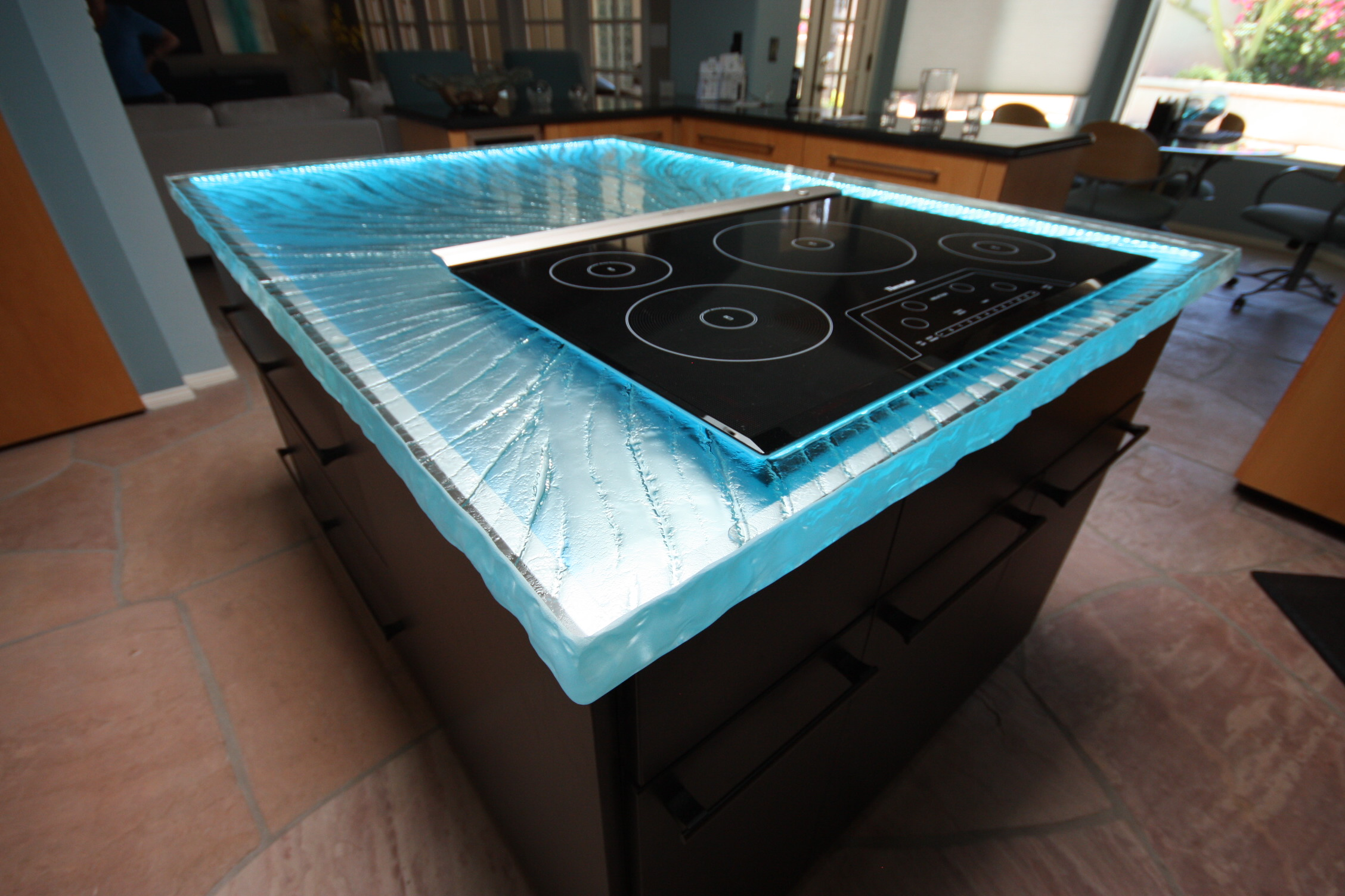 led lights and glass glass kitchen countertops kitchen glass counter top with blue lights