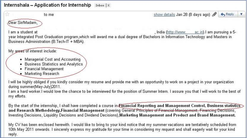 How not to apply for an Internship \u2013 3 Internshala blog