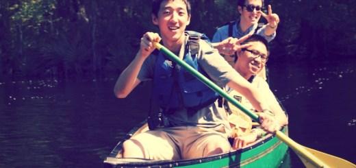 Edit - USF students in canoe