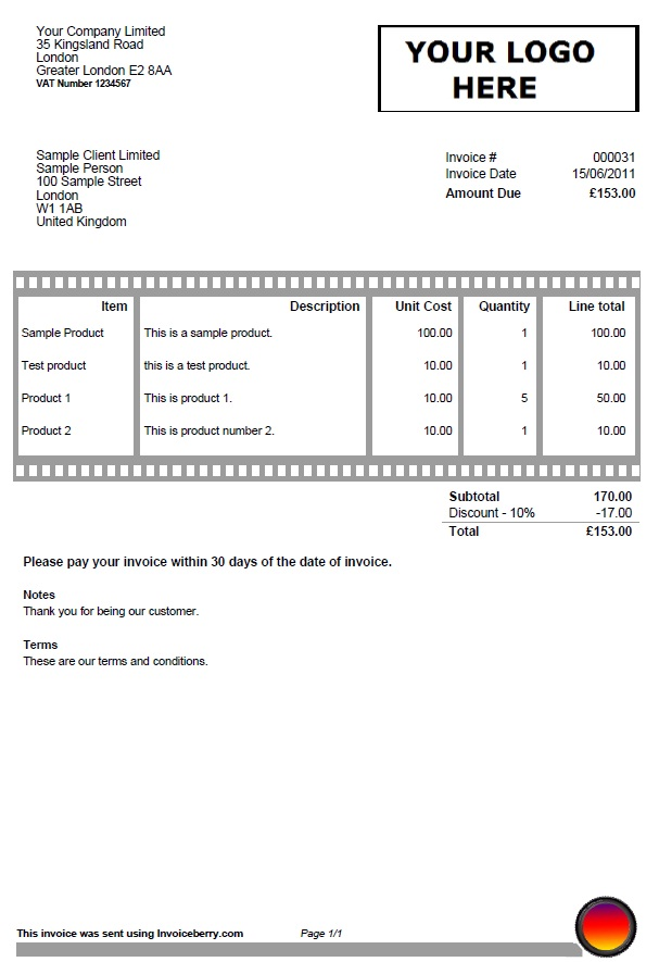 Download Invoice Template Photography | Rabitah.Net