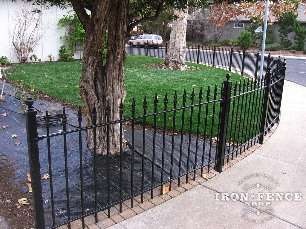 Iron Shop Installing Wrought Iron Fence Panels Around A Radius Curved Or