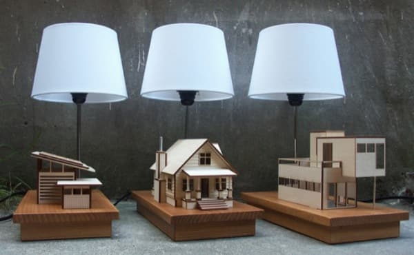 Decathlon Lamparas House-lamp: Lámparas Led Con Diseño De Casas Prefabricadas