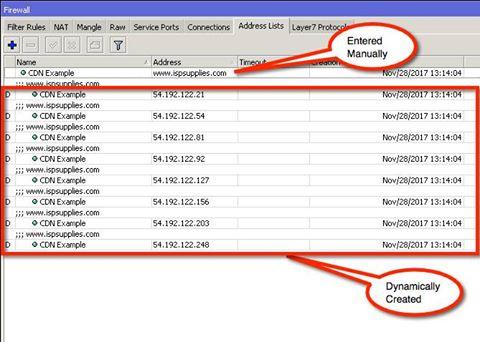 Mikrotik RouterOS Dynamic IP Firewall Address List Entries for CDN\u0027s