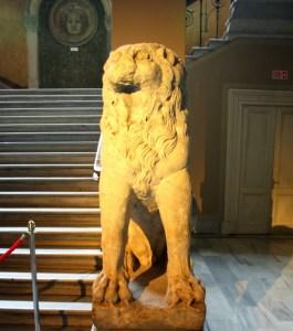 bukoleon sarayı aslan heykeli