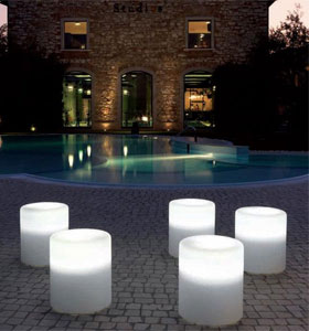 Pouf-tabouret Lumineux Wow - Pedrali