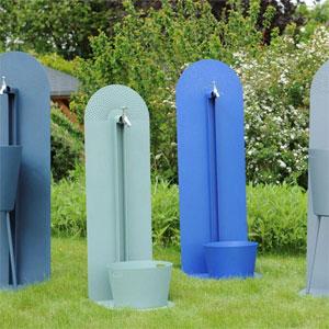 Laorus r invente la fontaine de jardin fontaine moderne for Robinet jardin design