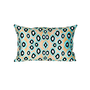 Coussin Coco Ikat Turquoise Rectangle