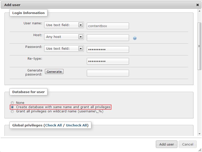 ContentBox Database
