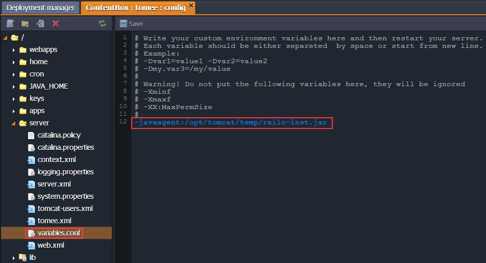 Railo Enable Java Agent