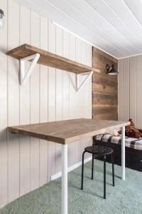 Simple DIY Wall Desk, Shelf & brackets (for under $23 ...