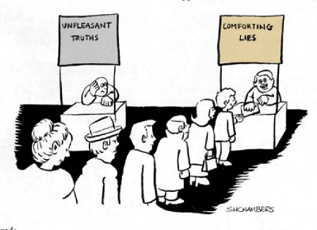Line Up For Lies - They're so much more comfortable than those pesky truths