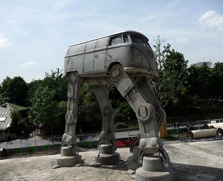 Imperial Hippies and their VW Microbus AT-AT