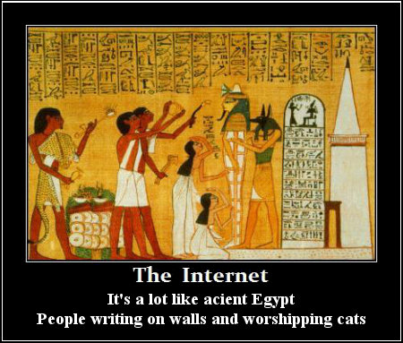 Egyptian Internet - People Writing On Walls And Worshiping Cats