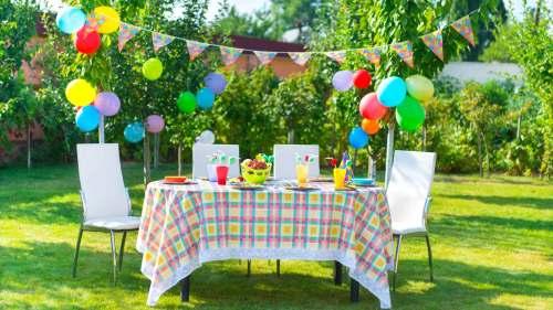 Medium Of Backyard Party Decor