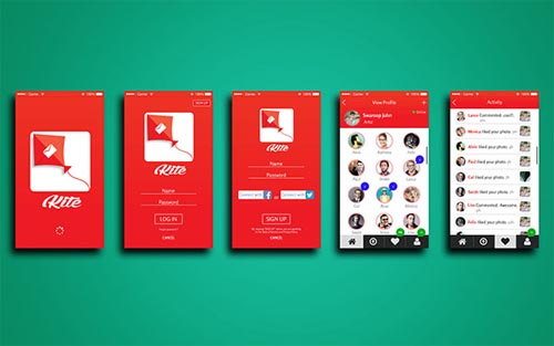 Mobile UI design for Inspiration - 34 Inspiration Freebies, Free