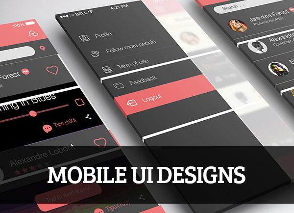 Mobile UI Designs for Inspiration \u2013 57 Inspiration Design Blog