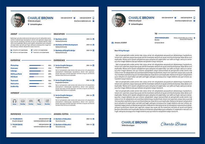modern fonts resume - Pinarkubkireklamowe